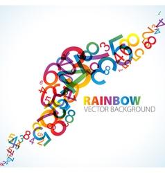 Rainbow numbers background vector