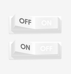 realistic toggle switch white switches vector image