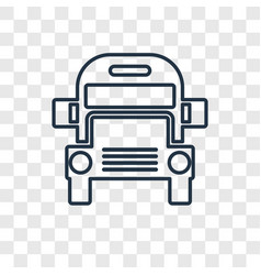 school bus concept linear icon isolated on vector image