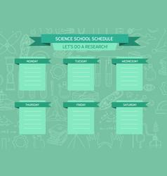 School or work schedule template vector