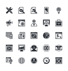 SEO and Marketing Colored Icons 3 vector image