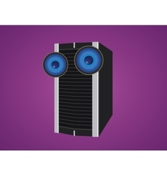 server isolated cartoon with two big eyes vector image