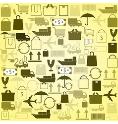 shopping icons background vector image