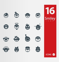 smyley icons vector image