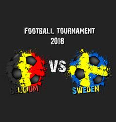 soccer game germany vs sweden vector image