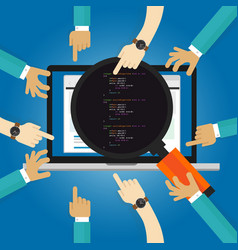 software review testing coding and programming vector image