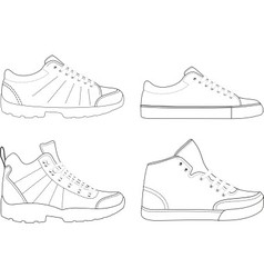 sports footwear vector image