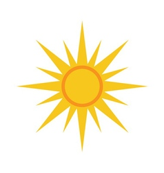 Sun icon Light yellow white background vector image