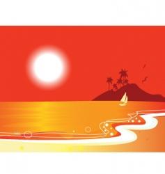 sunny beach coastal vector image