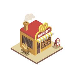 town bakery shop vector image