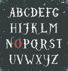 Vintage hand drawn decorative serif alphabet vector