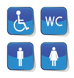 wc icon blue vector image