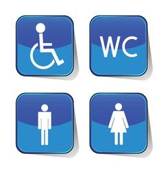 wc icon blue vector image