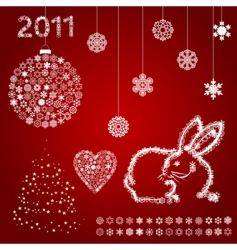 year of a rabbit5 vector image