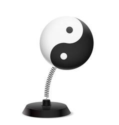 Yin yang souvenir vector