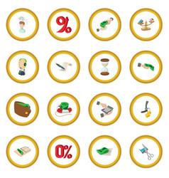 Bank icon circle vector