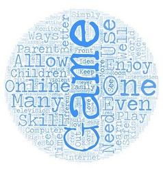 Children s Online Games text background wordcloud vector image vector image