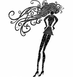 fashion girl silhouette vector image vector image
