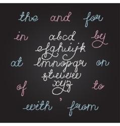 Handwritten chalkboard alphabet vector image vector image