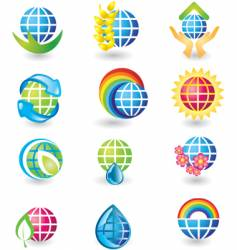 icons globe vector image vector image