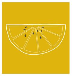 Lemon wedge vector