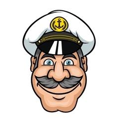 Moustached sailor or ship captain vector image