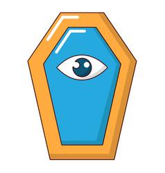 pharaoh coffin icon cartoon style vector image vector image
