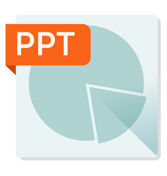 ppt document file format square icon vector image