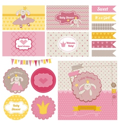 Baby Shower Bunny Party Set vector image