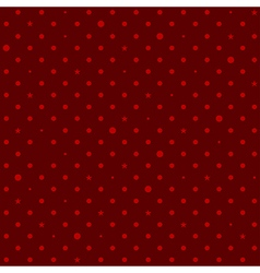 Crimson Red Star Polka Dots Background vector image vector image