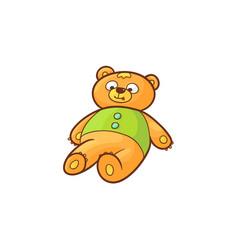 flat cartoon bear toy vector image