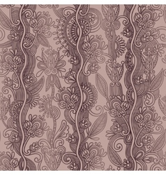 hand draw ornate seamless flower paisley design vector image vector image
