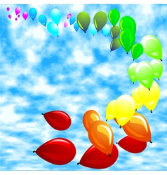 baloon against a blue sky vector image vector image