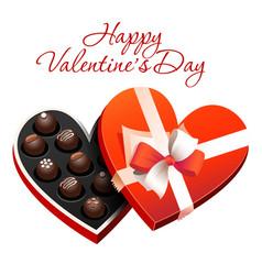 box of heart shaped chocolates vector image