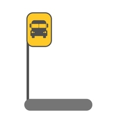 Bus station sign vector image vector image