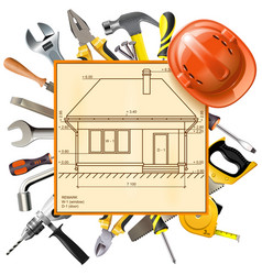 construction layout vector image vector image