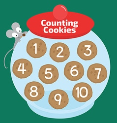 counting cookies vector image