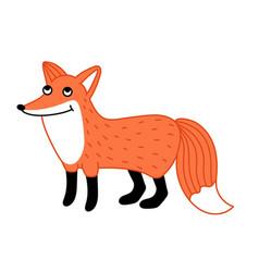 cute little fox hand drawn cartoon character vector image