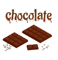 isometric set of chocolate bars isolated on white vector image