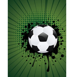 Soccer ball on rays background3 vector