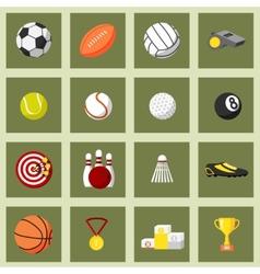 Sports Flat Icons Set vector image