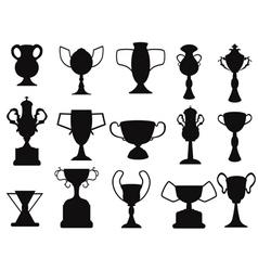 black champion cup icon vector image