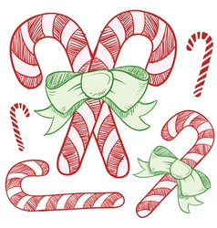 christmas sketches vector image vector image