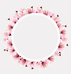 circle space with flower vector image