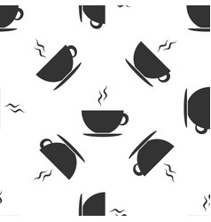 coffee cup icon seamless pattern on white vector image