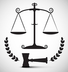 Justice Scales Symbol Law Hammer - Gavel Pictogram vector image