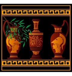 red greek jugs vector image vector image