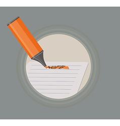 A highlighter marking note vector