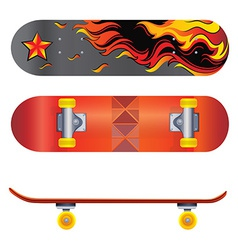 A skateboard vector