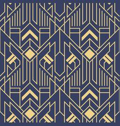Abstract art deco modern geometric tiles blue vector